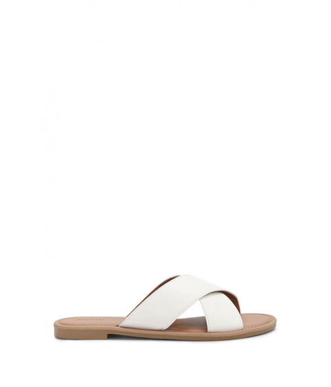 Incaltaminte Femei Forever21 Faux Leather Sandals WHITE
