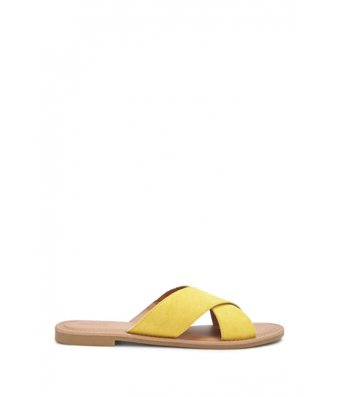 Incaltaminte Femei Forever21 Faux Suede Sandals YELLOW