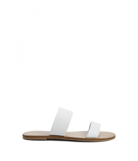 Incaltaminte Femei Forever21 Strappy Flat Sandals WHITE