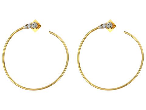 Bijuterii Femei Vince Camuto Round Stone Hoop Earrings GoldCrystal