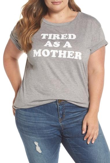 Imbracaminte Femei Caslon Off-Duty Mom Tee Plus Size GREY HEATHER