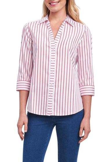Imbracaminte Femei FOXCROFT Clio Sateen Stripe Shirt Regular Petite REGATTA RED