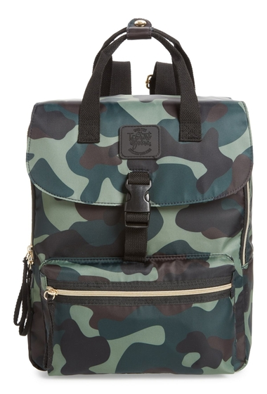 Genti Femei T-Shirt Jeans Camouflage Nylon Backpack CAMO GREEN