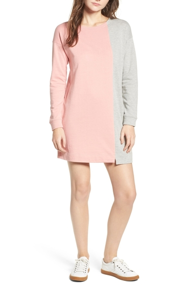 Imbracaminte Femei Socialite Colorblock Sweatshirt Dress HGRYLT PNK
