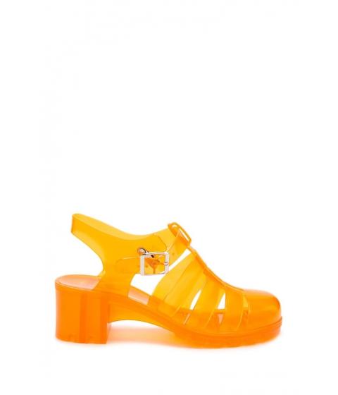 Incaltaminte Femei Forever21 Caged Jelly Sandals ORANGE