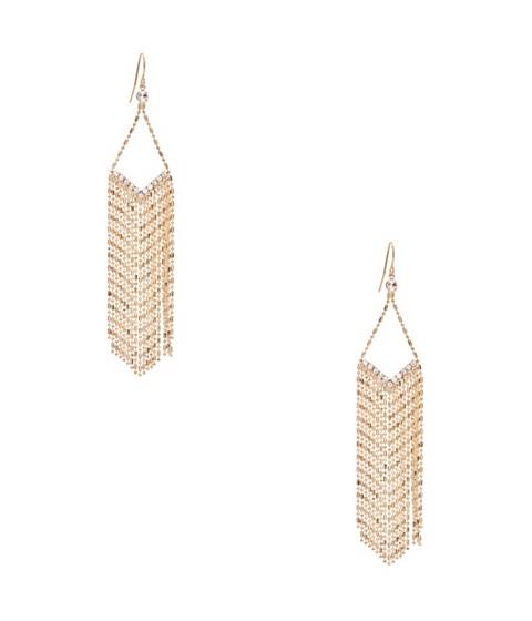 Bijuterii Femei GUESS Gold-Tone Beaded Rhinestone Earrings gold