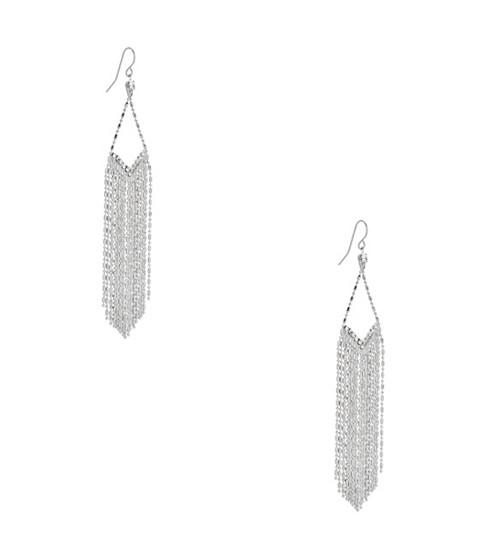 Bijuterii Femei GUESS Silver-Tone Beaded Rhinestone Earrings silver