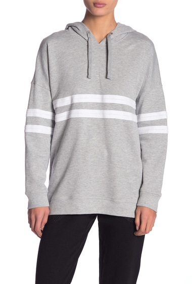 Imbracaminte Femei Marc New York Weekend French Terry Long Sleeve Hoodie LIGHT GREY HEATHER