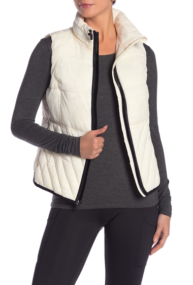 Imbracaminte Femei Marc New York Solid Insulated Packable Hooded Vest IVORY