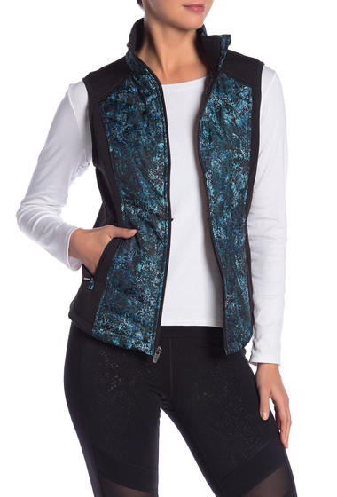 Imbracaminte Femei Marc New York Quilted Insulated Zip Front Vest TEAL TEXTURE
