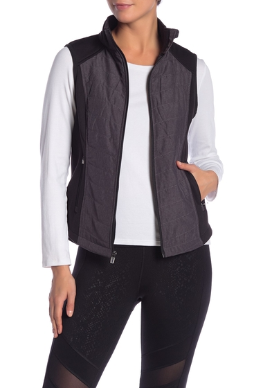Imbracaminte Femei Marc New York Quilted Insulated Zip Front Vest GREY TEXTURE