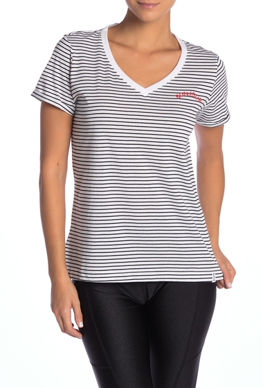 Imbracaminte Femei Marc New York Mini Stripe V-Neck Tee WHITEBLACK
