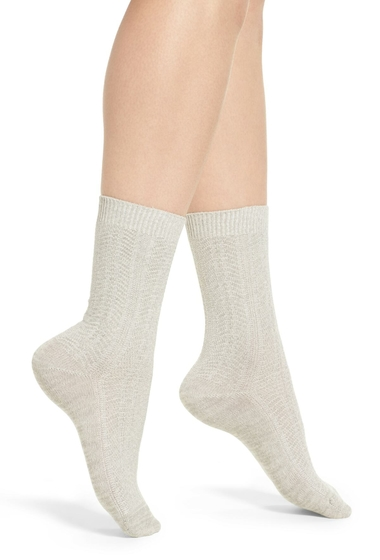 Accesorii Femei Treasure Bond Marled Knit Crew Socks GREY SLEET