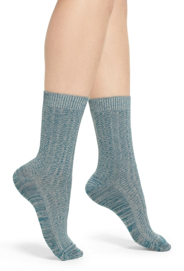 Accesorii Femei Treasure Bond Marled Knit Crew Socks TEAL GAZER