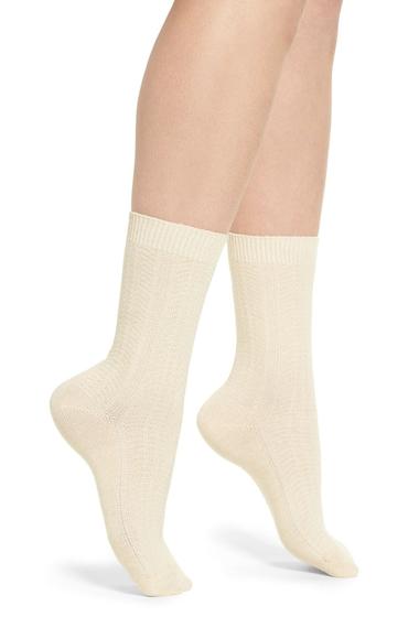 Accesorii Femei Treasure Bond Marled Knit Crew Socks OATMEAL