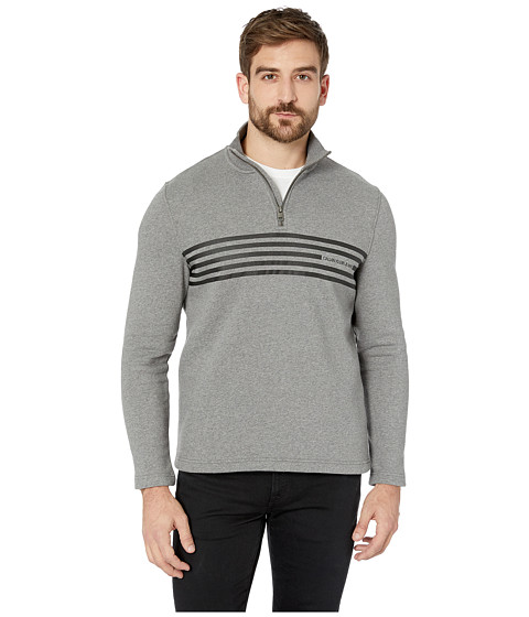 Imbracaminte Barbati Calvin Klein Engineered Stripe Logo 14 Zip Medium Grey Heather