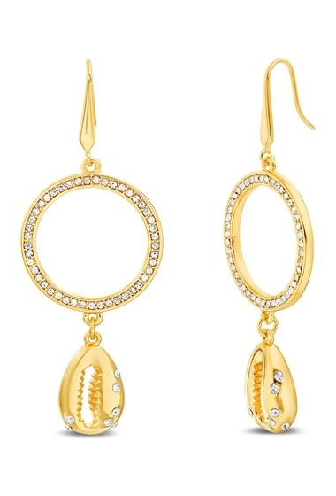 Bijuterii Femei Steve Madden Circle Seashell Drop Earrings GOLD TONE