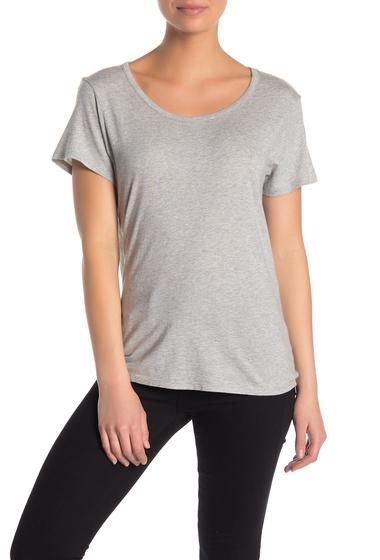Imbracaminte Femei Michael Stars Scoop Neck Back-Tie T-Shirt HEATHER GREY