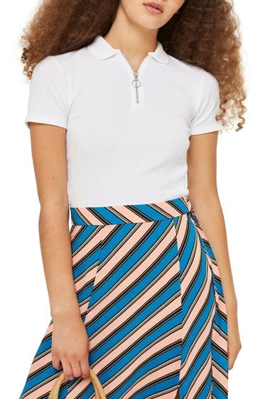 Imbracaminte Femei TOPSHOP Zip Polo WHITE