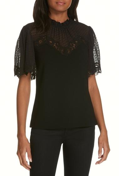 Imbracaminte Femei Rebecca Taylor Lace Crepe Top BLACK