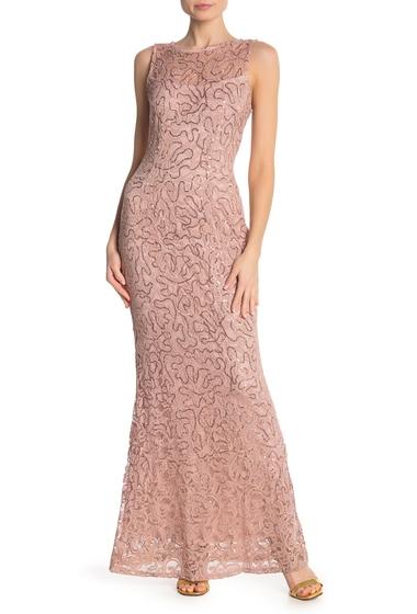 Imbracaminte Femei Marina Sequin Lace Sleeveless Maxi Dress BLUSH