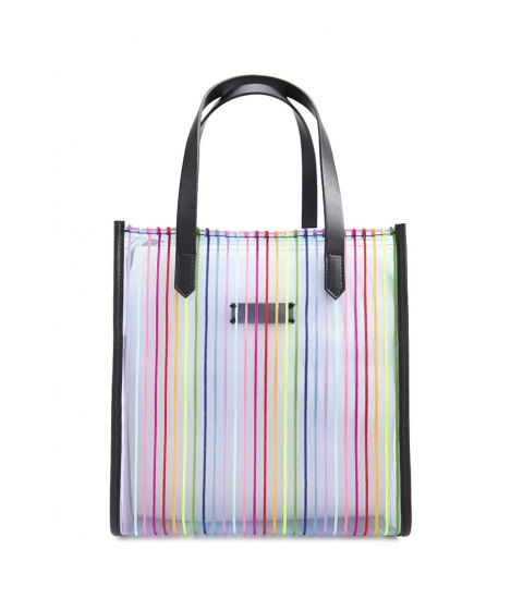 Genti Femei Forever21 Rainbow Striped Tote Bag BLUEMULTI