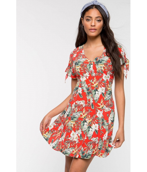 Imbracaminte Femei CheapChic Breezy Tropical Flare Dress Red Print