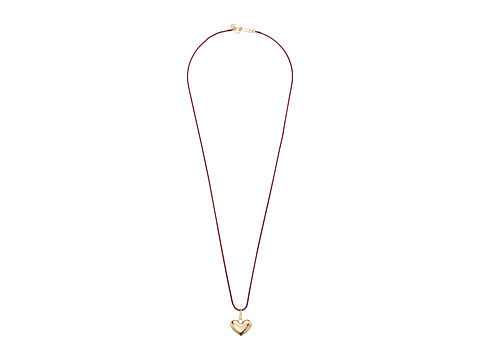 Bijuterii Femei French Connection Heart Pendant Necklace 30quot Burgundy