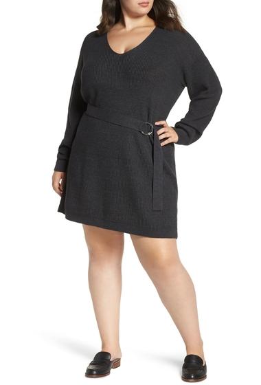 Imbracaminte Femei BP Belted Sweater Dress GREY DARK CHARCOAL HEATHER