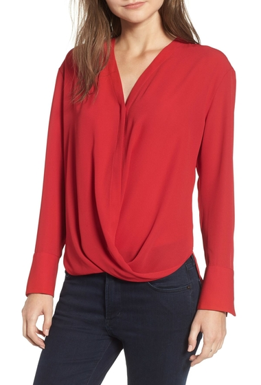 Imbracaminte Femei Chelsea28 Drape Front Top RED CHILI
