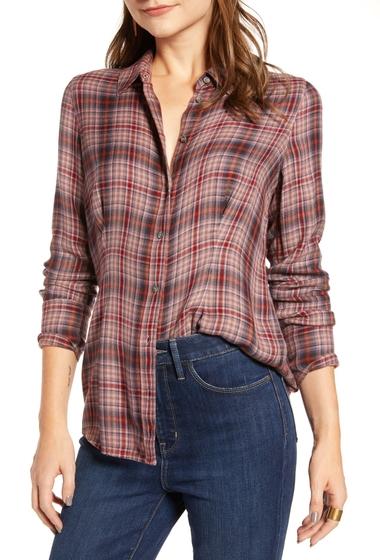 Imbracaminte Femei Treasure Bond Plaid Corset Shirt PURPLE TAUPE ROWEN PLAID