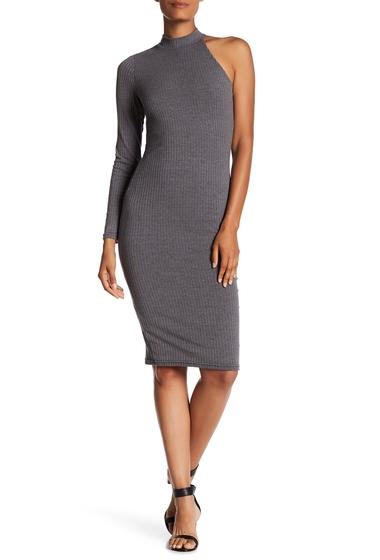 Imbracaminte Femei NSR One-Shoulder Ribbed Midi Dress GREY
