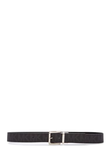 Accesorii Femei Michael Kors Square Metal Buckle Reversible Belt BLACK