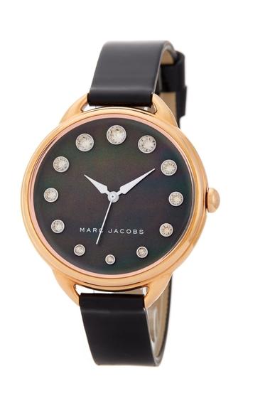 Ceasuri Femei Marc Jacobs Womens Betty Crystal Quartz Watch 36mm ROSE AND BLACK