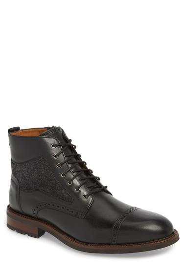 Incaltaminte Barbati Johnston Murphy Fullerton Zip Boot Men BLACK