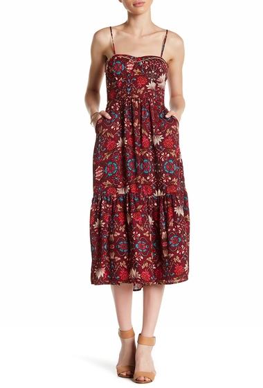 Imbracaminte Femei LIVING DOLL Floral Midi Dress BURGUNDY