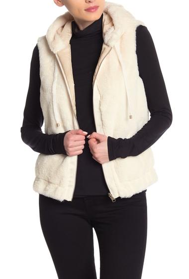 Imbracaminte Femei Tart Braelee Faux Fur Hooded Vest MARSHMALLOW