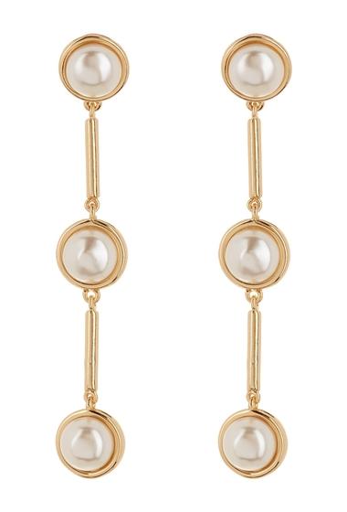 Bijuterii Femei Vince Camuto Imitation Pearl Linear Drop Earrings GOLDIVORY PEARL