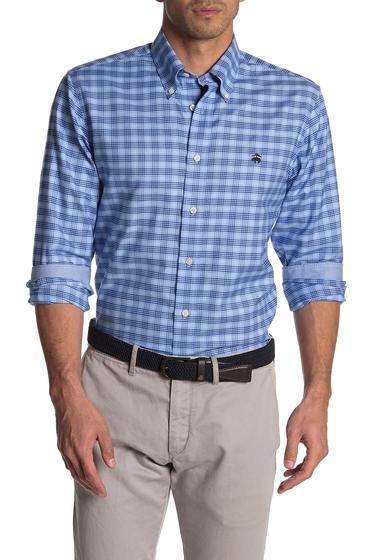 Imbracaminte Barbati Brooks Brothers Plaid Long Sleeve Regular Fit Shirt BLUE