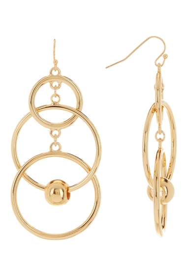 Bijuterii Femei Vince Camuto Multi Ring Ball Drop Earrings GOLD 02