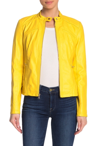 Imbracaminte Femei GUESS Faux Leather Jacket YELLOW