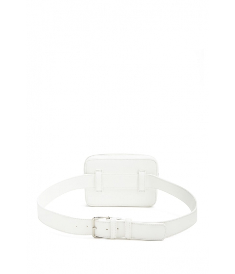 Genti Femei Forever21 Faux Leather Belt Bag RED