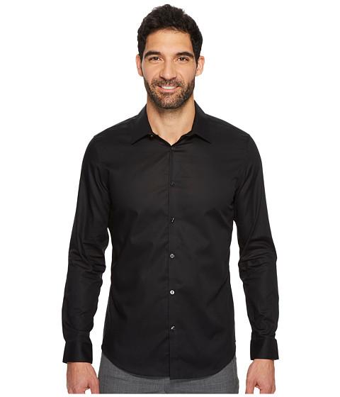 Imbracaminte Barbati Calvin Klein Slim Fit Long Sleeve Infinite Cool Chambray Twill Shirt Black