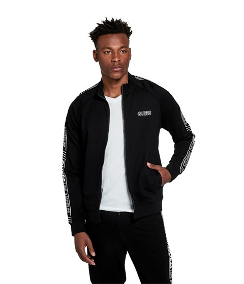 Imbracaminte Barbati GUESS Pacey Logo Mock-Neck Jacket jet black