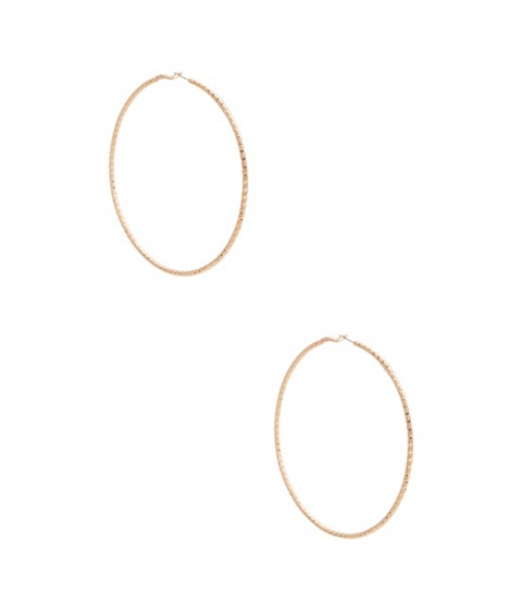 Bijuterii Femei GUESS Gold-Tone Large Twisted Hoop Earrings gold