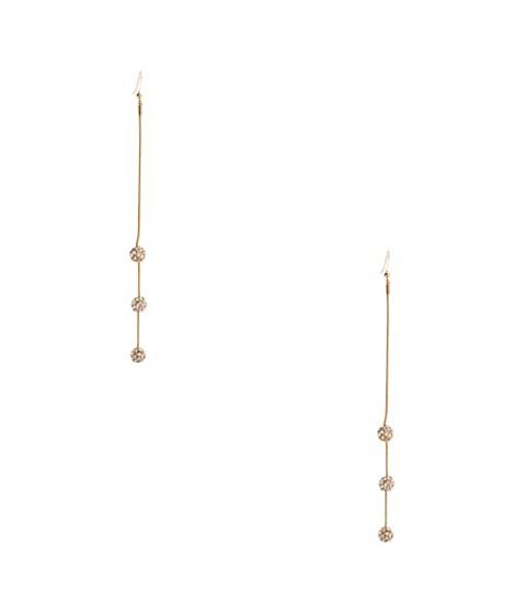 Bijuterii Femei GUESS Silver-Tone Fireball Linear Earrings gold