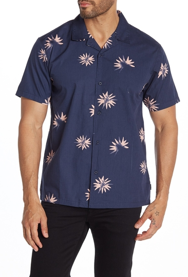 Imbracaminte Barbati Tavik Villa Floral Short Sleeve Regular Fit Shirt NAVY BLUE