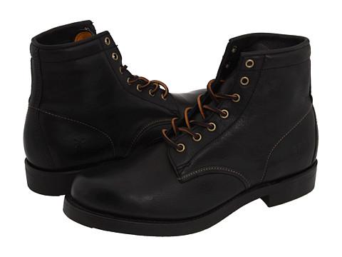 Incaltaminte Barbati Frye Arkansas Mid Lace Black Full Grain Leather