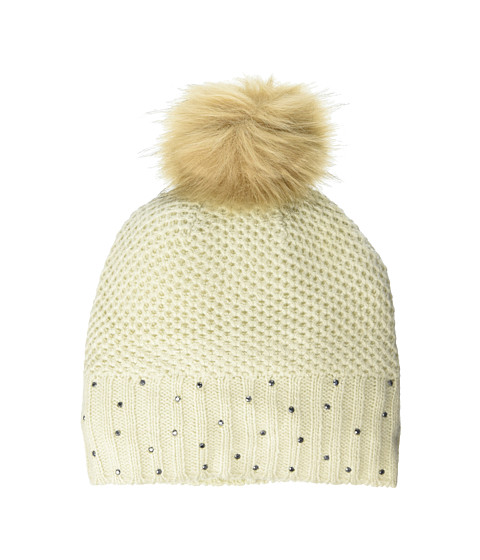 Accesorii Femei Vince Camuto Rhinestone Rib Pom Hat Parchment