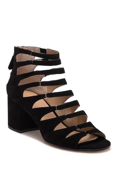 Incaltaminte Femei Pour La Victoire Amani Kid Suede Block Heel Sandal BLACK